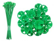 Green Balloon Sticks 250pcs (1-Piece)